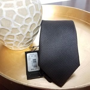 Murano Brown and Gold Stitched Silk Tie